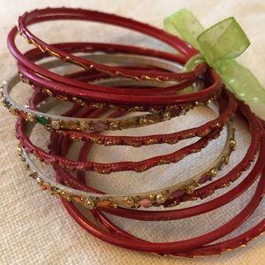 Red Bangles Bracelets